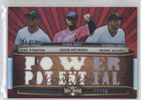 Mike Stanton, Jason Heyward, Pedro Alvarez /36