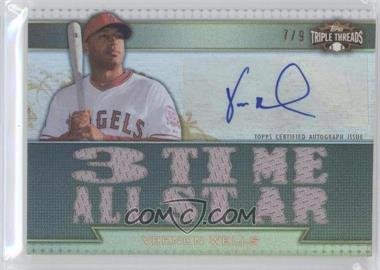 2011 Topps Triple Threads Autograph Relics Gold #TTAR-131 - Vernon Wells /9
