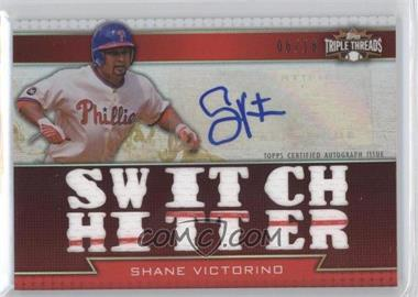 2011 Topps Triple Threads Autographed Relics [Autographed] #TTAR-216 - Shane Victorino /18
