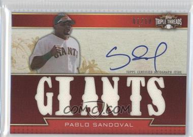 2011 Topps Triple Threads Autographed Relics [Autographed] #TTAR-83 - Pablo Sandoval /18