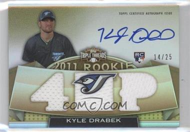2011 Topps Triple Threads Gold #113 - Kyle Drabek /25
