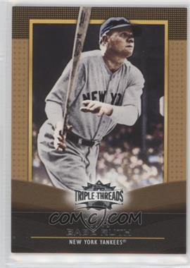 2011 Topps Triple Threads Gold #27 - Babe Ruth /99