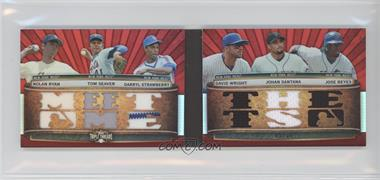 2011 Topps Triple Threads Relic Double Combos Ruby #TTRDC-15 - Nolan Ryan, Tom Seaver, Darryl Strawberry, David Wright, Josh Satin, Jose Reyes /36