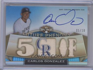 2011 Topps Triple Threads Sapphire #150 - Carlos Gonzalez /10