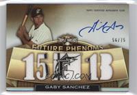 Rookies & Future Phenoms - Gaby Sanchez /75