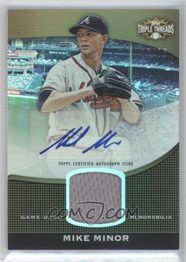 2011 Topps Triple Threads Unity Relics Sepia Autographs [Autographed] #TTUAR-7 - Mike Minor /75