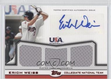 2011 Topps USA Baseball Team [???] #ATR-EW - Erich Weiss /25