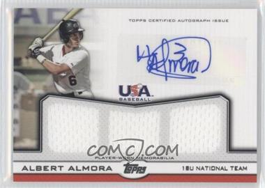 2011 Topps USA Baseball Team Autographed Triple Relics #ATR-AA - Albert Almora /214
