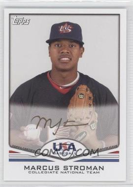 2011 Topps USA Baseball Team Autographs Gold Ink #USA-A20 - Marcus Stroman /25