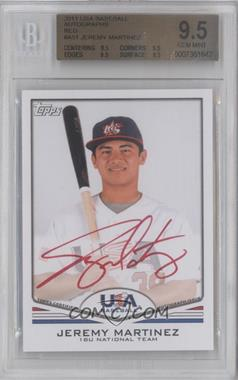 2011 Topps USA Baseball Team Autographs Red Ink #USA-A57 - [Missing] /99 [BGS 9.5]