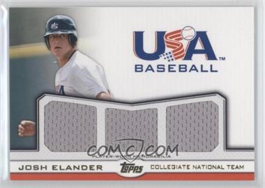 2011 Topps USA Baseball Team Triple Relic Gold #TR-JE - Josh Elander /10