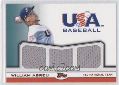 2011 Topps USA Baseball Team Triple Relic Red #TR-WA - William Abreu /25
