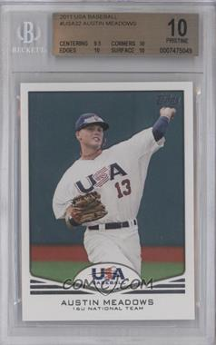 2011 Topps USA Baseball Team #USA-32 - Austin Meadows [BGS 10]