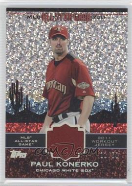 2011 Topps Update Series - All-Star Stitches Relics - Platinum #AS-28 - Paul Konerko /60