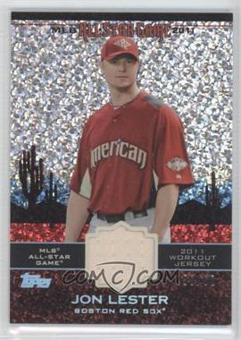 2011 Topps Update Series - All-Star Stitches Relics - Platinum #AS-67 - Jon Lester /60