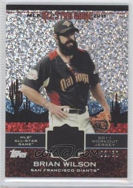 2011 Topps Update Series All-Star Stitches Relics Platinum #AS-48 - Brian Wilson /60