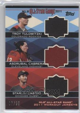 2011 Topps Update Series All-Star Triple Stitches Relics #AST-3 - Troy Tulowitzki, Asdrubal Cabrera, Starlin Castro /25