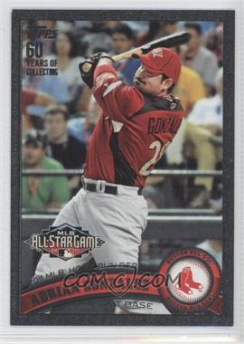 2011 Topps Update Series Black #US126 - Adrian Gonzalez /60