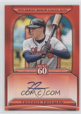 2011 Topps Update Series Next 60 Certified Autographs [Autographed] #N60A-FF - Freddie Freeman