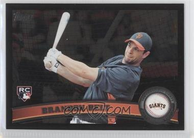 2011 Topps Wal-Mart All-Black #605 - Brandon Belt