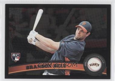 2011 Topps Wal-Mart [Base] All-Black #605 - Brandon Belt