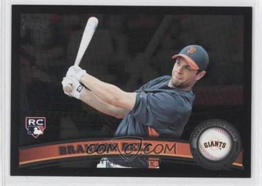 2011 Topps Wal-Mart [Base] All-Black #605 - Brandon Belt