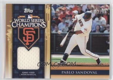 2011 Topps World Series Champions Relics #WCR-3 - Pablo Sandoval /100