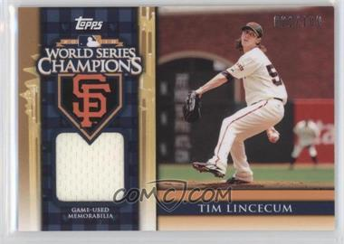 2011 Topps World Series Champions Relics #WCR-6 - Tim Lincecum /100
