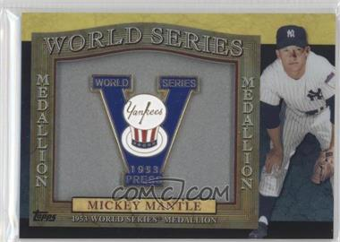 2011 Topps World Series Manufactured Medallions #1953 - Mickey Mantle