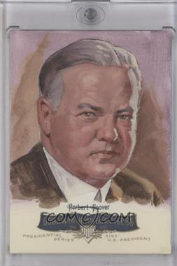2011 Upper Deck Goodwin Champions Goodwin Masterpieces Presidential Series Autographed by Artist #GMPS-31 - Herbert Hoover /10