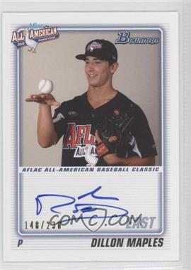 2012 Bowman - Aflac All-American Certified Autographs - [Autographed] #AFLAC-DM - Dillon Maples /230