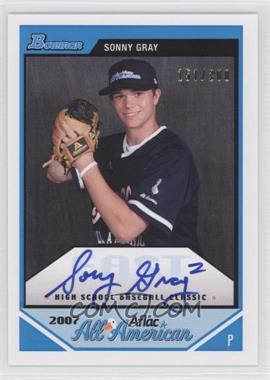 2012 Bowman - Aflac All-American Certified Autographs - [Autographed] #AFLAC-SG - Sonny Gray /200