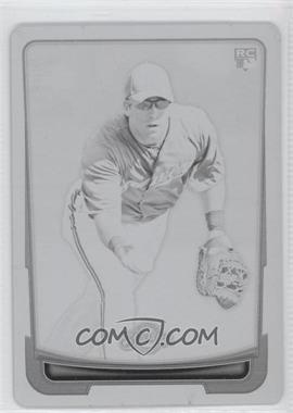 2012 Bowman - [Base] - Printing Plate Black #199 - Taylor Green /1
