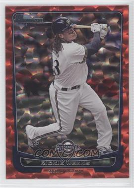 2012 Bowman - [Base] - Red Ice #148 - Rickie Weeks /25
