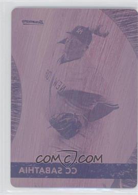 2012 Bowman - Bowman's Best - Printing Plate Magenta #BB1 - CC Sabathia /1