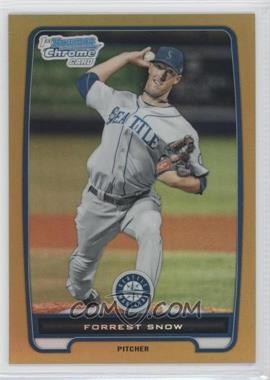 2012 Bowman - Chrome Prospects - Gold Refractor #BCP207 - Forrest Snow /50