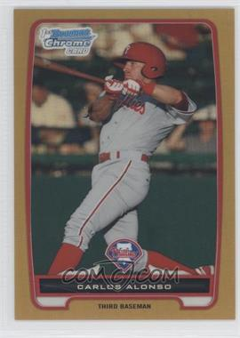 2012 Bowman - Chrome Prospects - Gold Refractor #BCP210 - Carlos Alonso /50
