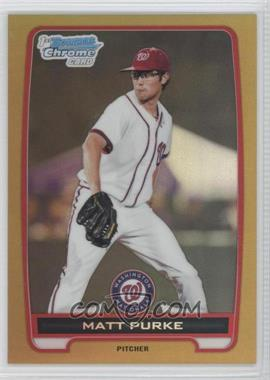 2012 Bowman - Chrome Prospects - Gold Refractor #BCP80 - Matt Purke /50