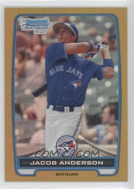 2012 Bowman - Chrome Prospects - Gold Refractor #BCP83 - Jacob Anderson /50