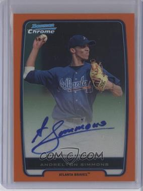 2012 Bowman - Chrome Prospects - Orange Refractor #BCP109 - Andrelton Simmons /25