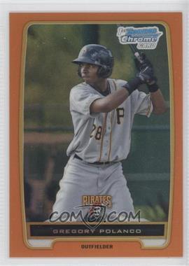 2012 Bowman - Chrome Prospects - Orange Refractor #BCP182 - Gregory Polanco /25