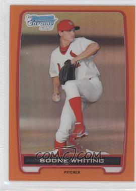 2012 Bowman - Chrome Prospects - Orange Refractor #BCP48 - Boone Whiting /25