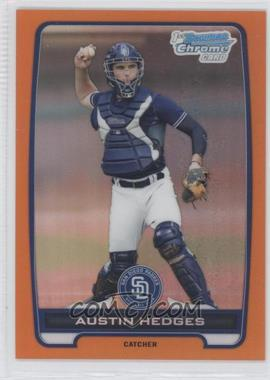 2012 Bowman - Chrome Prospects - Orange Refractor #BCP89 - Austin Hedges /25