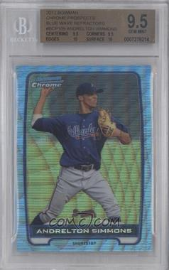 2012 Bowman - Chrome Prospects - Redemption Refractor Blue Wave #BCP109 - Andrelton Simmons [BGS 9.5]