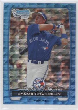 2012 Bowman - Chrome Prospects - Redemption Refractor Blue Wave #BCP83 - Jacob Anderson