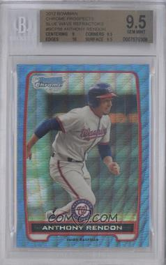 2012 Bowman - Chrome Prospects - Redemption Refractor Blue Wave #BCP88 - Anthony Rendon [BGS 9.5]