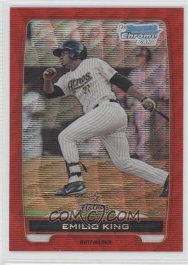 2012 Bowman - Chrome Prospects - Redemption Refractor Red Wave #BCP65 - Emilio King /25