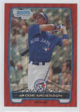 2012 Bowman - Chrome Prospects - Redemption Refractor Red Wave #BCP83 - Jacob Anderson /25
