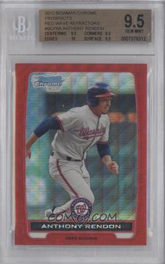 2012 Bowman - Chrome Prospects - Redemption Refractor Red Wave #BCP88 - Anthony Rendon /25 [BGS 9.5]
