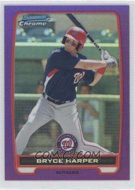 2012 Bowman - Chrome Prospects - Retail Purple Refractor #BCP10 - Bryce Harper /199